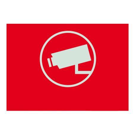 Warnaufkleber Videoüberwachung klein englisch