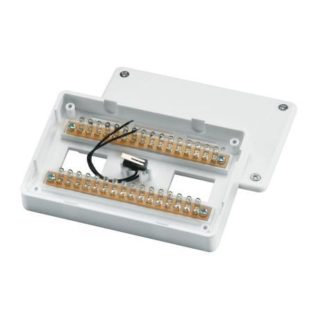 Aufputz-Löt-Verteiler 32-polig weiss VdS-C