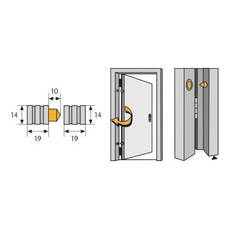 ABUS TAS82 leichte Scharnierseiten-Sicherung