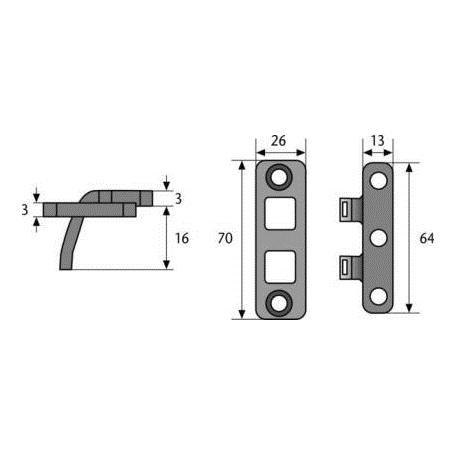 ABUS TAS102 leichte Scharnierseiten-Sicherung