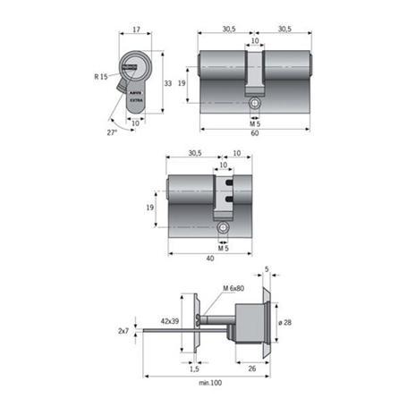 ABUS Halbzylinder HEC550NP A50 I10 VS