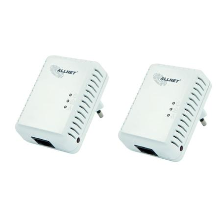 ALLNET 500Mbit HomePlugAV Mini Adapter 2er Pack