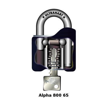 Burg Wächter Alpha 800 65 Vorhangschloss
