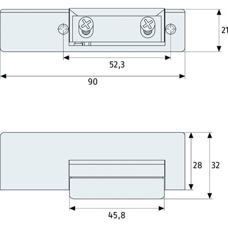ABUS ET50 Elektrischer Türöffner