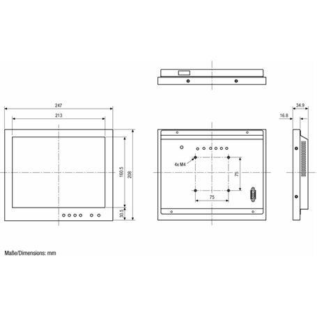 """Eneo 10,4"""" LED-CM Monitor 1024x768 Metallgehäuse"""