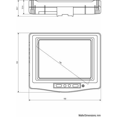 Eneo 5.6'' LCD Monitor 640x480 2x FBAS 2x Audio