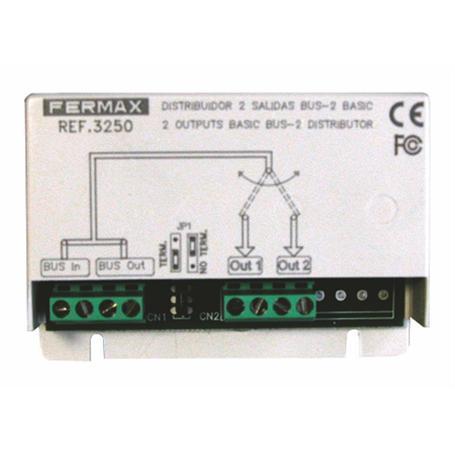 FERMAX BUS2 Verteiler 2 Ausgänge BASIC