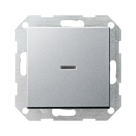 Gira Tast-Kontrollschalter System 55 aluminium