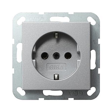 Gira Schuko-Steckdose aluminium System 55