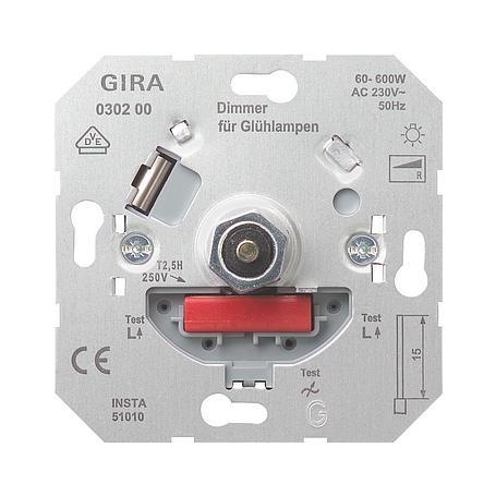 Gira Dimmer-Einsatz 600W
