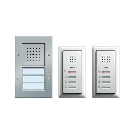 Gira Zweifamilienhaus-Paket Audio aluminium