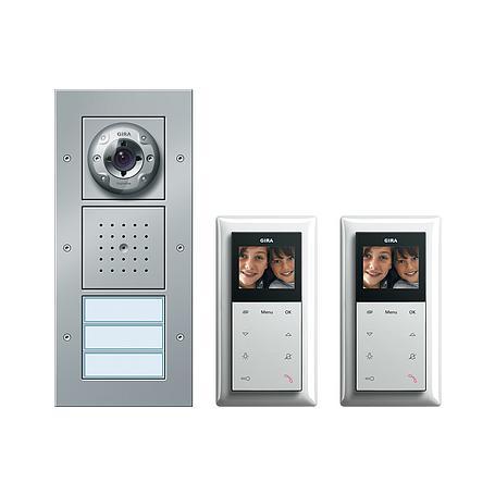 Gira Zweifamilienhaus-Paket Video aluminium