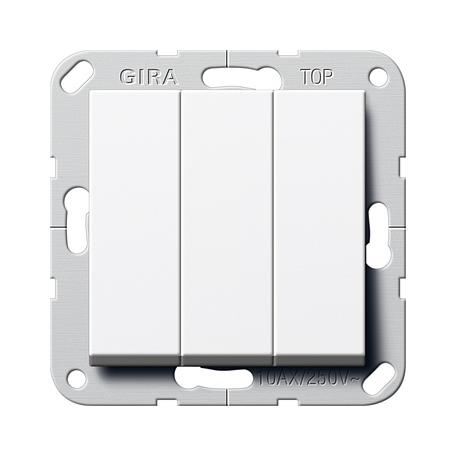 Gira Wippschalter 3fach reinweiss System 55