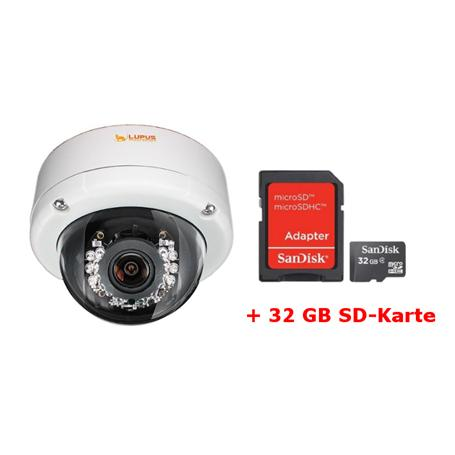 Lupus IP-Kamera Set LE971 Dome HD + MicroSD 32GB
