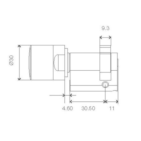 SimonsVoss Halbzylinder 3061 Z4.30-10.HZ.G2.ZK