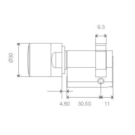 SimonsVoss Halbzylinder 3061 Z4.90-10.HZ.G2.ZK.WP