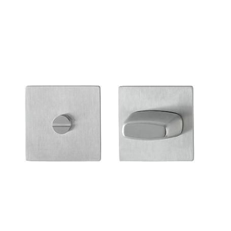 Hoppe Edelstahl Flachrosette E848S quadratisch WC