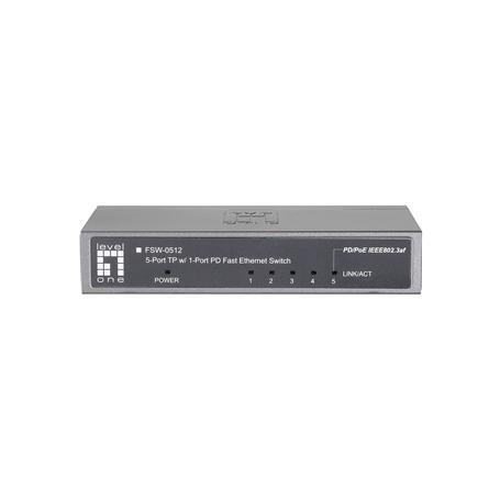 FSW-0512 4 FE + 1 FE PoE PD Switch
