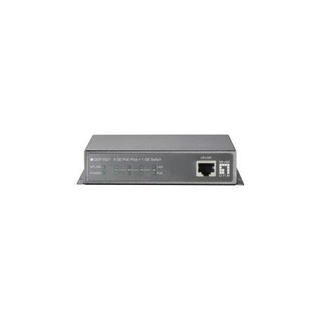 GEP-0521 4 GE PoE-Plus + 1 GE Switch, 120W