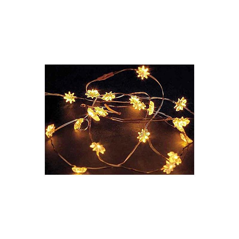 LED-Lichterkette mit Sternen 20-tlg. gelb