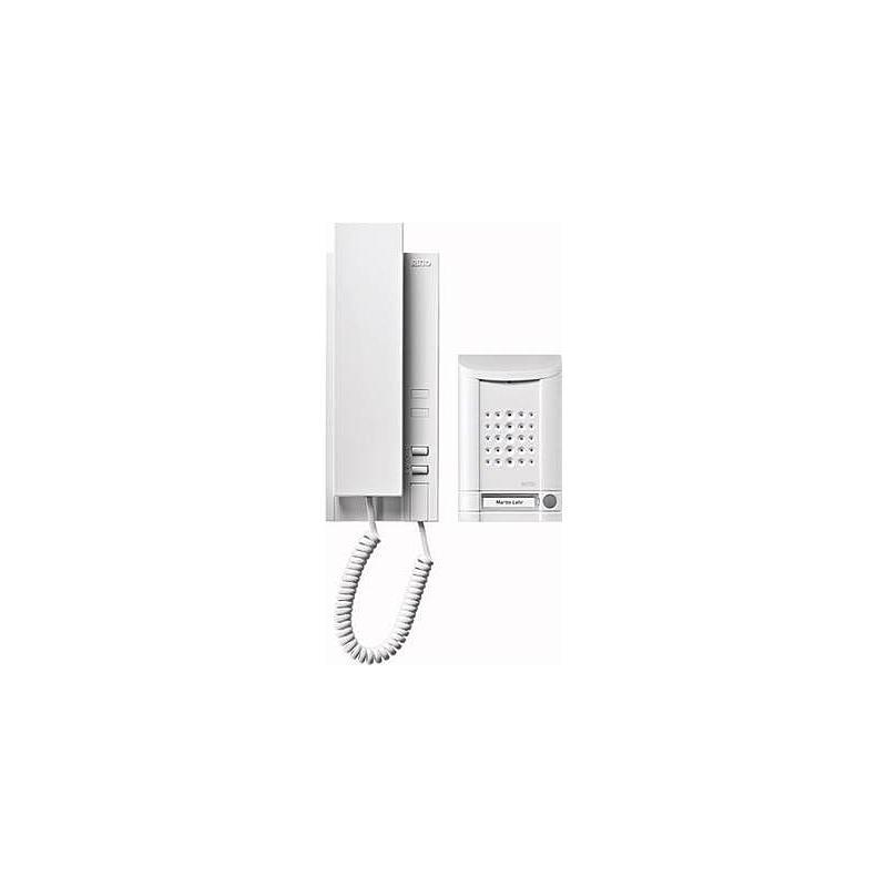 Minivox Audio Türsprech-Set weiss/alu