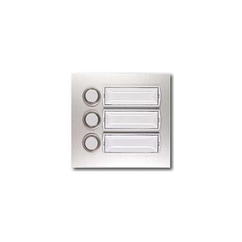 Kontaktplatte beleuchtbar E101/3, silber