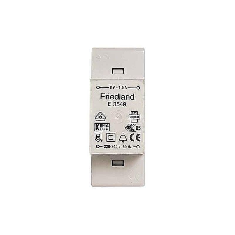 Klingeltransformator E3549 VDE 8V/1,5 A