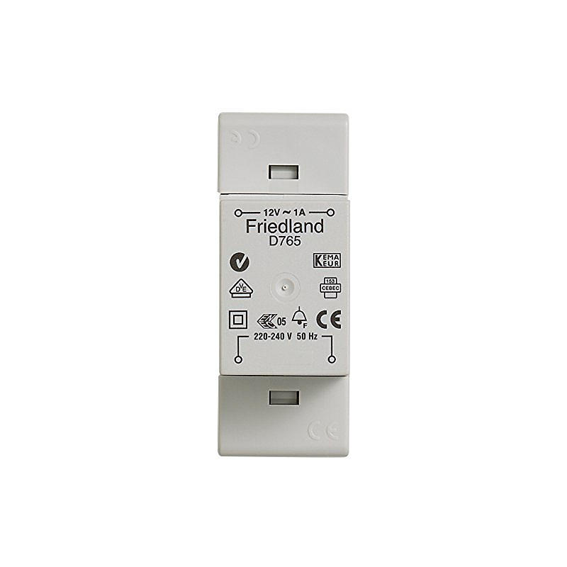 Klingeltransformator D765 VDE 12 V/1 A