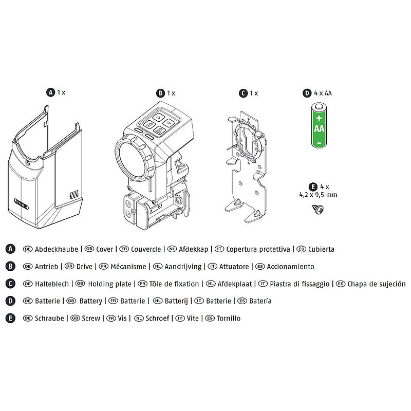 Abus HomeTec Pro CFA3000W Funk-Türschlossantrieb | Expert-Security.de