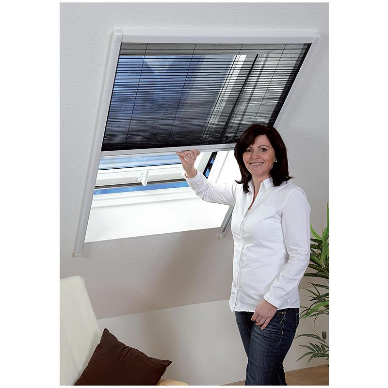 CULEX Insektenschutz-Dachfenster-Plissee 80 x160cm, weiß