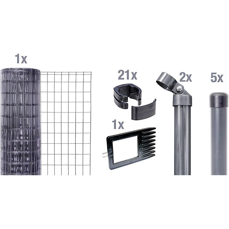 GAH-Alberts 633462 Fix-Clip Pro-Zaunset 10 m anthrazit 1020 mm