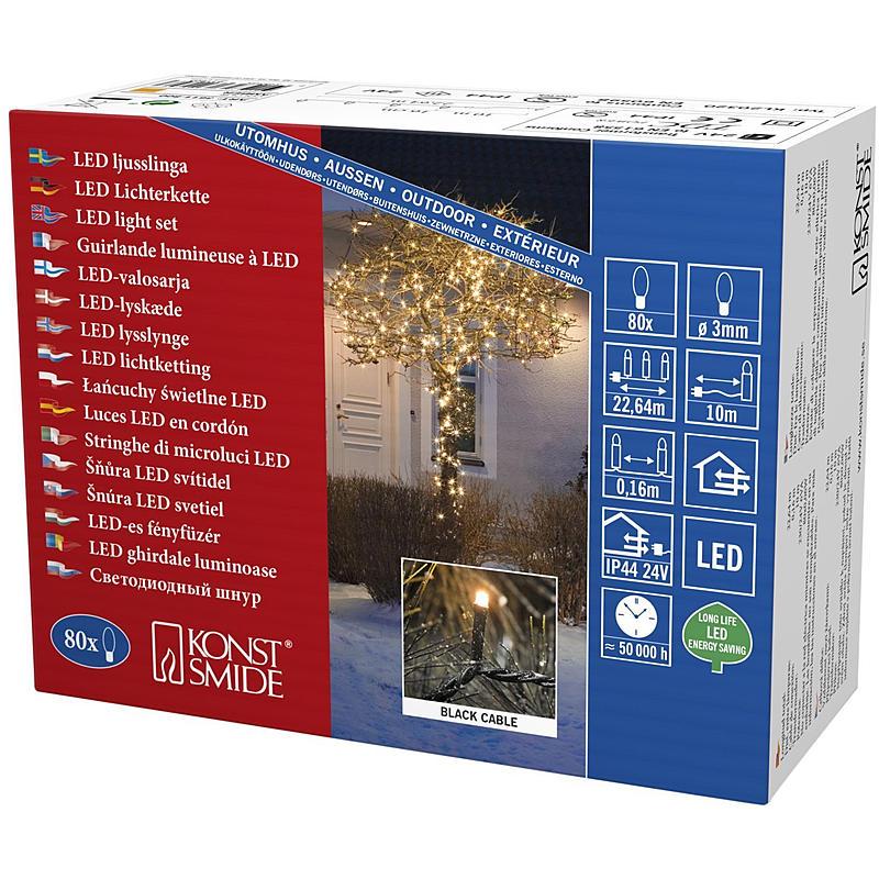 LED-Lichterkette Micro 80-flg.24VTrafo