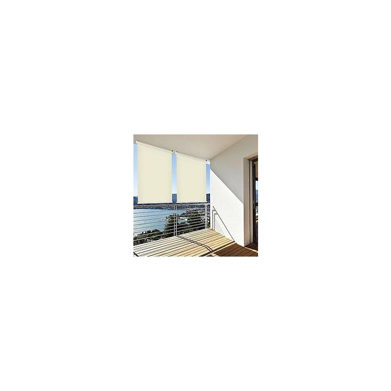 sonnenschutz au enrollo balkon 140x140 cm creme expert. Black Bedroom Furniture Sets. Home Design Ideas
