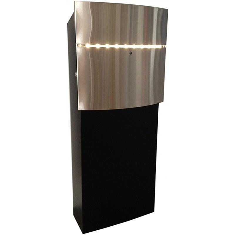 12-8 LED Briefkasten edelstahl