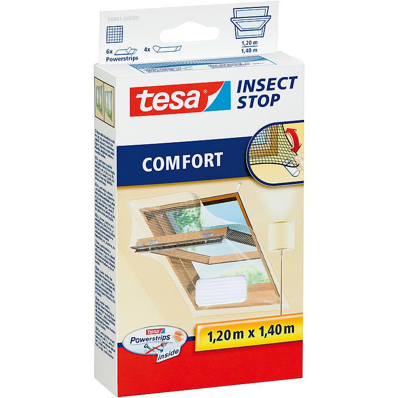 tesa® Klett Comfort für Dachfenster 120x140 weiß 55881-00020-00