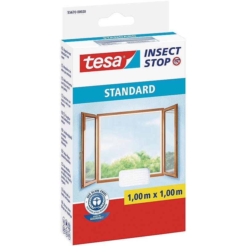 Tesa fliegengitter standard fenster 100x100 wei expert for Fenster 100x100