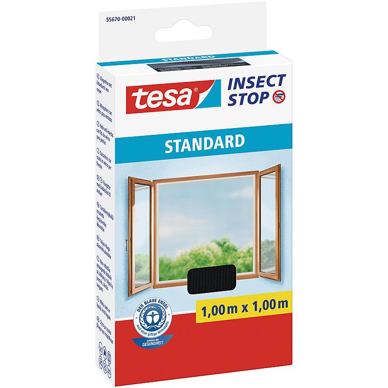 tesa® Fliegengitter Standard Fenster 100x100 anthr