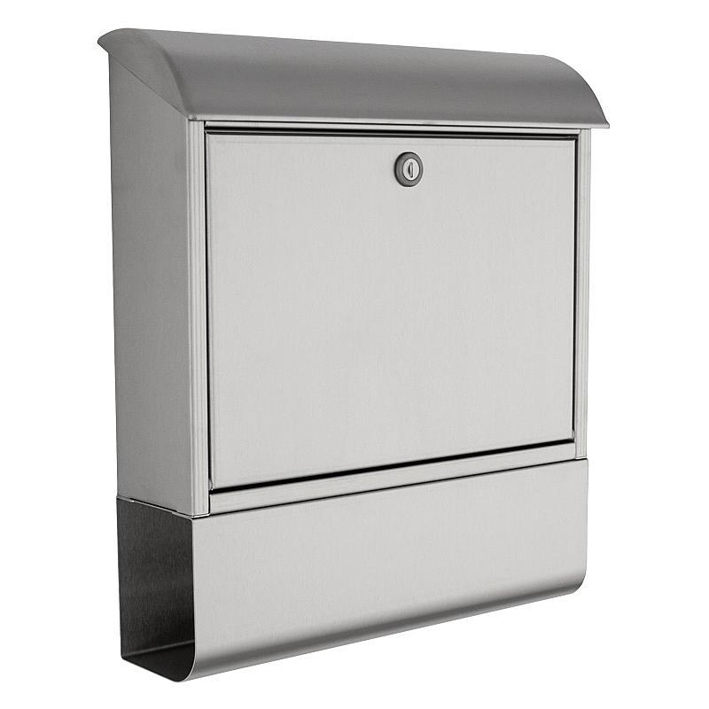 heibi briefkasten mit zeitungsfach 43802 edelstahl expert. Black Bedroom Furniture Sets. Home Design Ideas
