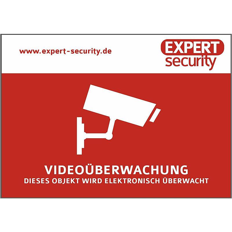 video aufkleber 74x105mm video berwachung expert. Black Bedroom Furniture Sets. Home Design Ideas