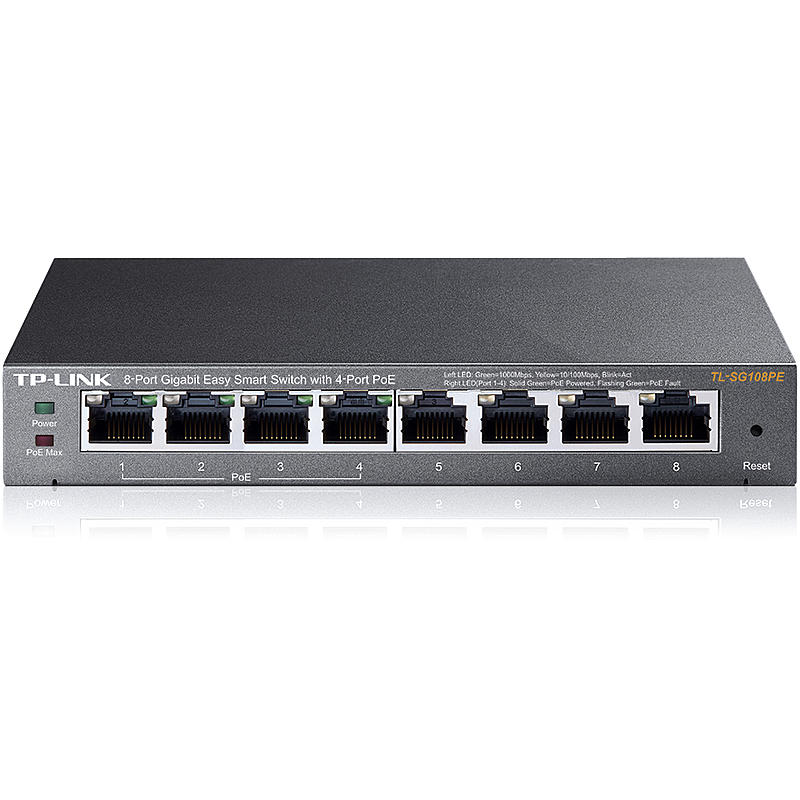 TL-SG108PE 8Port GbE managed Switch PoE