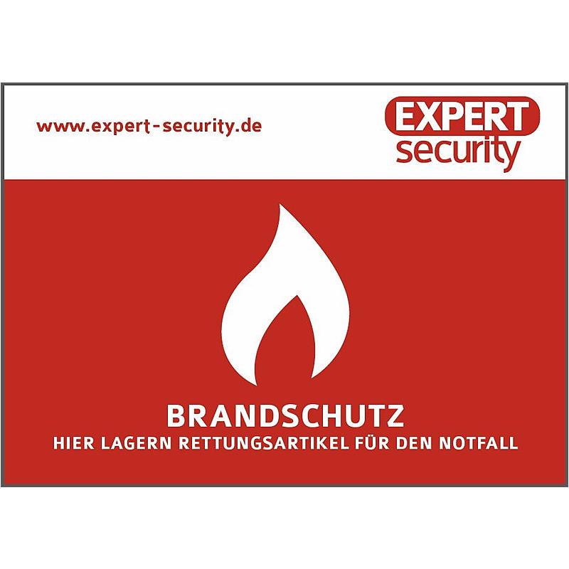 """EXPERT-Sec Aufkleber """"Brandschutz"""" Aufkleber 74x105mm Brand Aufkleber"""