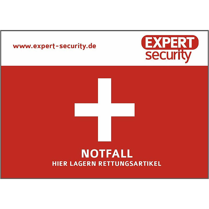 """EXPERT-Sec Aufkleber """"Notfall"""" Aufkleber 74x105mm Notfall Aufkleber"""