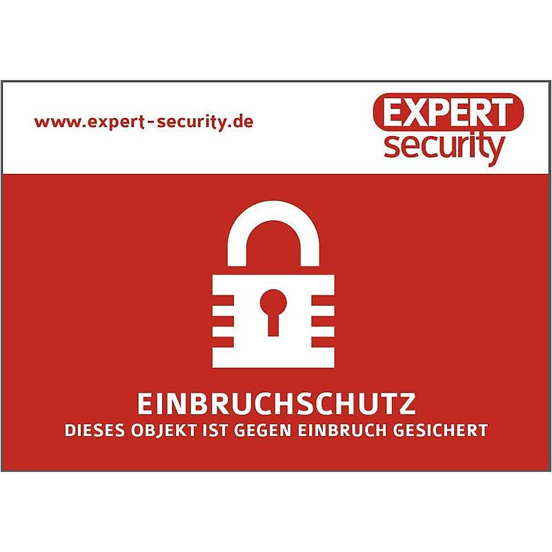 """EXPERT-Sec Aufkleber 74x105mm - Aufkleber """"Einbruchschutz"""" Einbruch Aufkleber"""