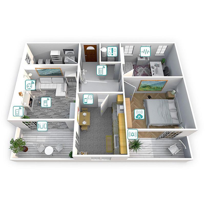 burg w chter alarmanlage starter pack set 2200 expert. Black Bedroom Furniture Sets. Home Design Ideas