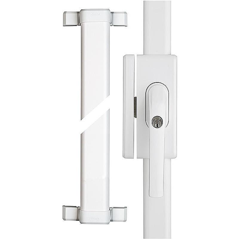 77306 ABUS Fenster-Stangenschloss mit Alarm FOS650A W weiss AL0125 gleichschlie/ßend