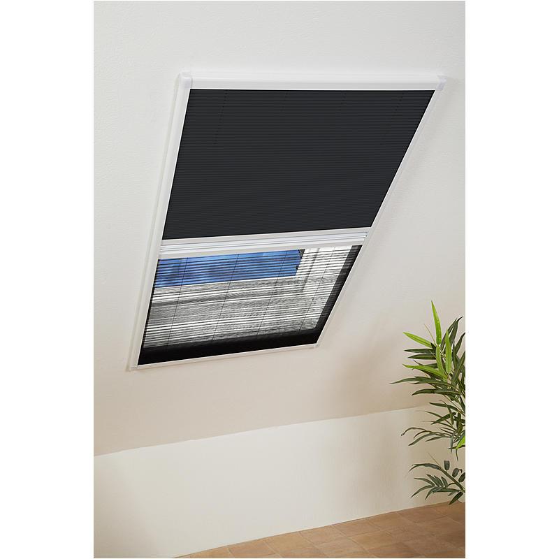 CULEX Kombi-Dachfenster-Plissee 110 x 160 cm weiß