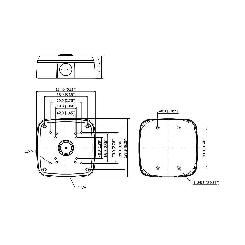 Wasserfeste Anschlussbox von Dahua DH-PFA121