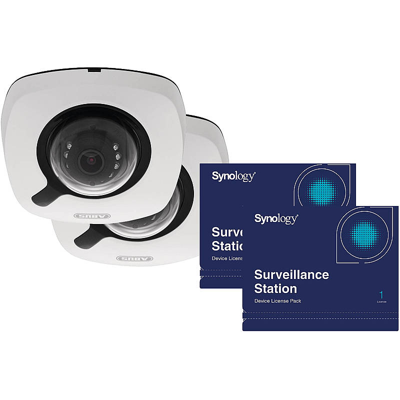 2x ABUS IP-Kamera IPCB42510A 1080p+Synology Lizenz