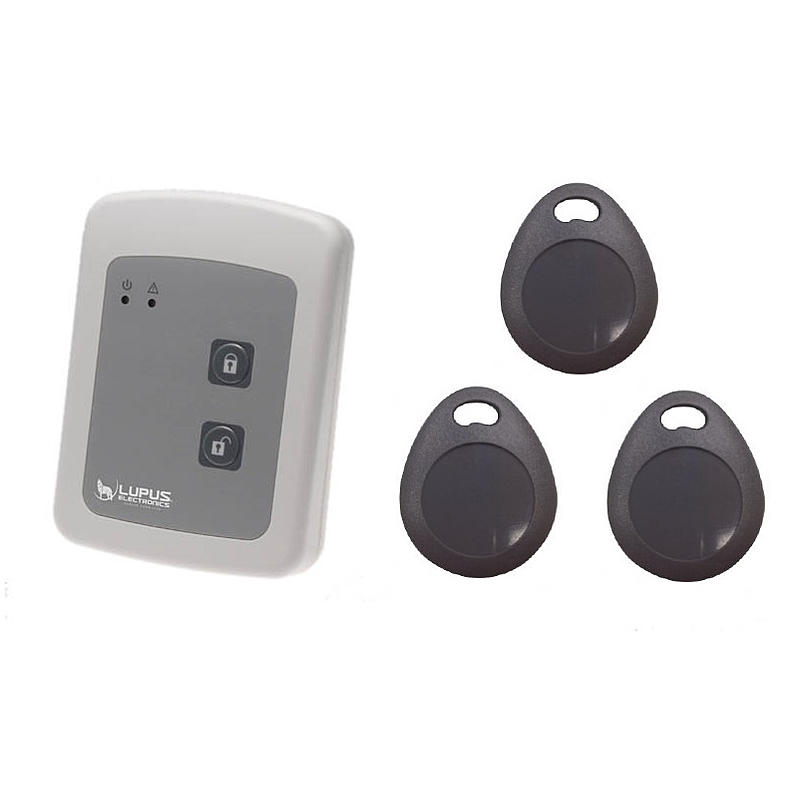 lupusec tag reader mit 3x chips rfid expert. Black Bedroom Furniture Sets. Home Design Ideas