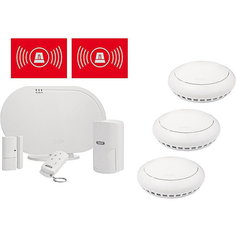abus smartvest funkalarm basis set mit rauchmelder expert. Black Bedroom Furniture Sets. Home Design Ideas